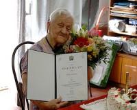 90 éves Ötvös Jánosné
