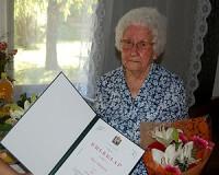 95 éves Rácz Mihályné