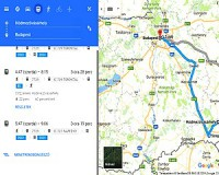 Google Térkép mint vasúti menetrend