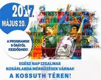 Kosárlabda fesztivál a Kossuth téren