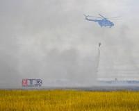 Tűz pusztít a Hortobágyi Nemzeti Parkban