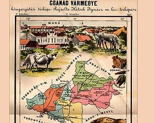 Csanád megye visszakerül Magyarország térképére