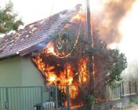 Leégett egy családi ház