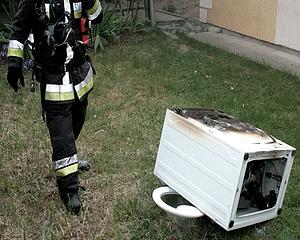 Szárítógép égett egy vásárhelyi családi házban