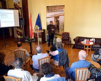 Miklós Péter Balogh páterről tartott előadást Budapesten