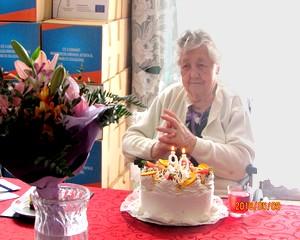 90 éves Lindeisz Györgyné