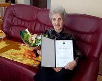 95 éves Ollé Istvánné