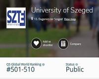 Jó híre van a világban a Szegedi Tudományegyetemnek