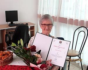 90 éves Tehes Istvánné