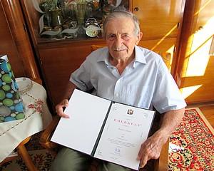 95 éves Radics János