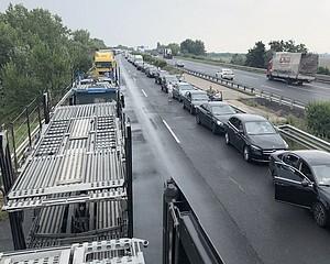 Vásárhelyi katonai konvoj súlyos balesete