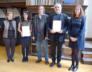 Három művész a  fővárosban vette át az Őszi Tárlat díjait