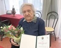 90 éves Asztalos Zsuzsanna